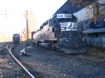 NS SD40-2 rests in East Dover yard