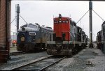 N&W 3666 and CN 4565