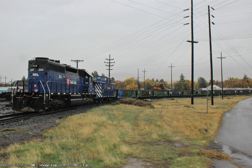 MRL's Jimbo work train with MRL 264 on the point