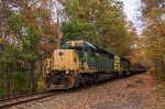 RBMN 3058 leads the fall foliage excursion back toward Port Clinton