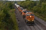 BNSF 7940 Leads a solid tofc train east on the Marceline Sub,