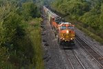 BNSF 5231 Races a freight toward Gibbs Mo.