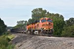 BNSF 7551 Races a rock train on the Marceline Sub.