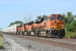 BNSF 8177 Drags 4 other Ge's down the Transcon.