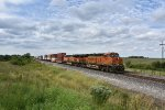 BNSF 7070 Leads a eastbound inter modal train down the Transcon.
