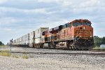 BNSF 7850  Races a stack train down the Transcon.