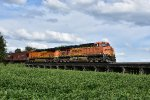 BNSF 7638 Leads a grain west on the Marceline.