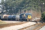 CSX 2264 and 6438 lay over from working local traffic