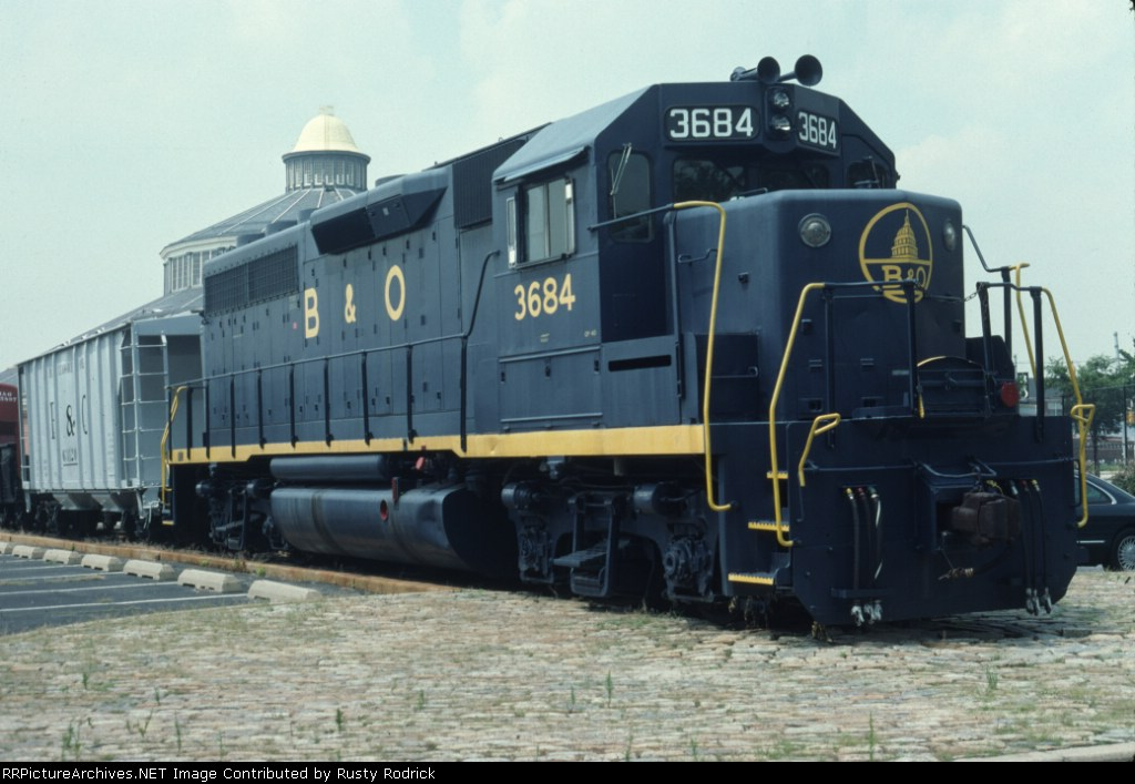 BO 3684 at Baltimore Railroad Museum