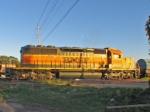 BNSF 6340 IN THE EVENING SUN