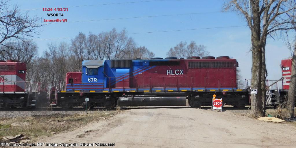 T4 shoves their Horicon-originated train into the Rotamer siding