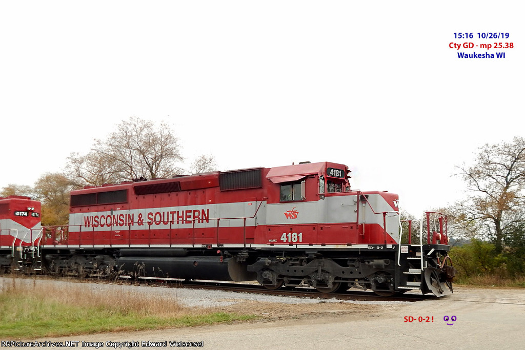The only SD- 0-2 on the goose roster