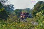 Grain train rounds the corner