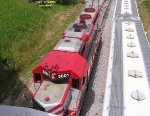Bird's view of a GP38 roof