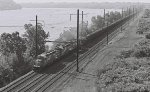 CR ENBA heads south over the Port Road with 121 loaded coal cars