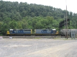 CSX 2206 and 6468 heading east with D774