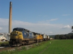 CSX 7710 & UP 4100 waiting to go with Q136
