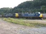 CSX 394 & 407 waiting for a train of empties