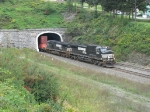 NS 9542 & 9571 coming out of the Allegheny Tunnel