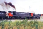 SP 9550 smoking it up near City of Industry.
