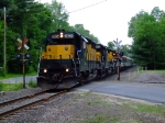 HRRC 3604 crosses Lime Rock Station Road on the Carnival train