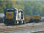 CSX 2206 (Road Slug) 6468 (GP40-2) Next to CSX 8786 (SD60M) 5462 (ES44DC)