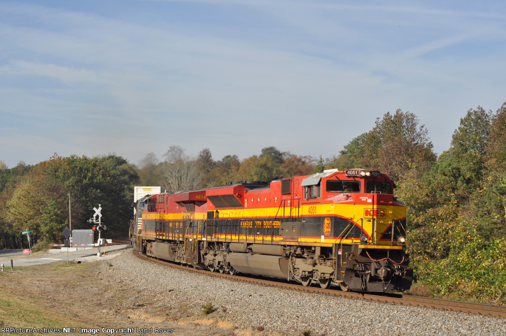 KCS 4051 On NS 220 Eastbound