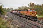 BNSF 5259 In the drizzle.