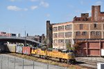 UP 4458 Leads a freight through the west bottoms of Kc.