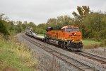 BNSF 6851 Leads a empty boeing train.