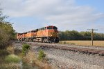 BNSF 7651 Leans into a curve on the Topeka Sub.