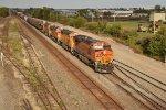 Freight rolls the town of Ottawa Ks.