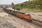 BNSF 6535 Drags a freight into Santa Fe Jct.