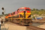 KCS 3915 Leads a transfer into Santa Fe Jct.