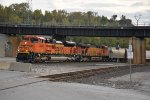 BNSF 8500 leader on a frac sand train.