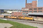 UP 2551 Drags a grain into the west bottoms of Kc Mo.