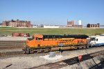 BNSF 7369 Drags a rock train down the KCT.