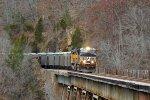 NS limestone train over Copper creek