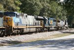 CSX C40-8W 7859, SD60 8718, and AC44CW 600