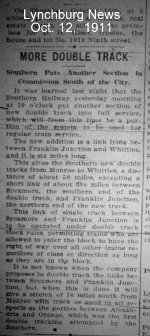 Historical footnote.  News from 1911 describing installation of double track the first time.  In addition to the name Elba, Gretna was once called Franklin Junction, too.