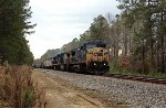 CSX C40-8W's 7785 and 7838, and B40-8 5941, hustle covered hoppers