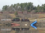 Guilford's Derailment in Bangor on the Penobscot River Photo 2