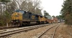 CSX C40-8W 7772 and UP SD70M 4600 pass mile marker 842