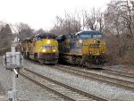 UP 8822 and CSX 837