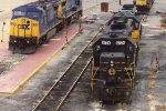 CSX Engines in NN Yard