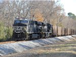 NS SD70ACe & an ES44AC work as DPU's on the rear of a loaded coal train