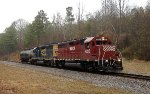 HLCX GP40 4225 and CSX GP40-2 6092
