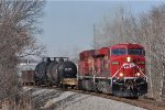 CP 8709 On NS 375 Eastbound Next To The Airport B C R