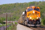 Q268 with a new BNSF GEVO on the point