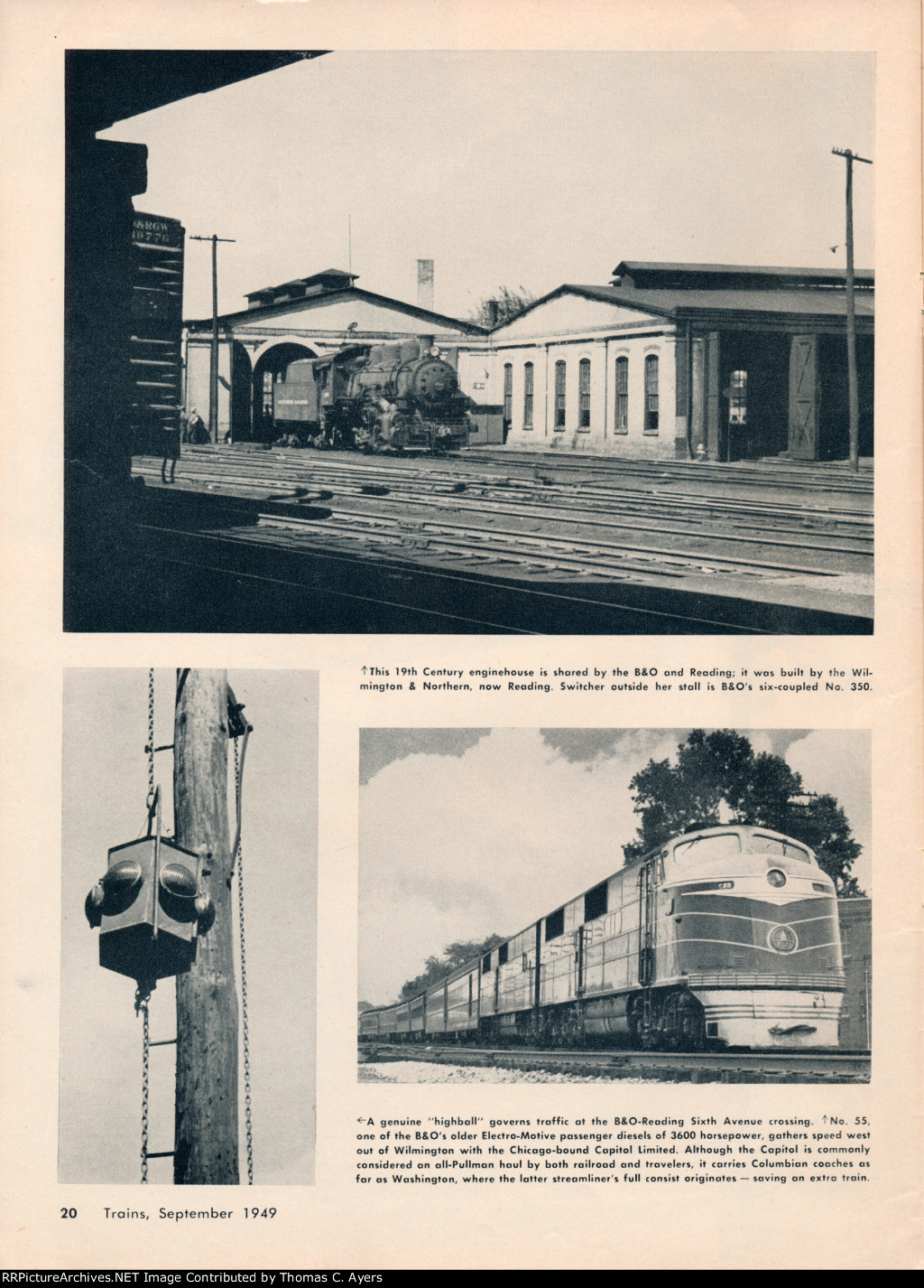 """""""Railroads of Wilmington,"""" Page 20, 1949"""